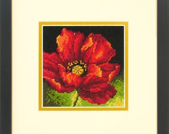 Dimensions Red Poppy Needlepoint Kit