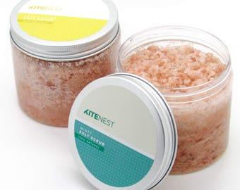Body Scrub Set, Himalayan Salt with Avocado Oil, Vitamin E and Coconut Oil.