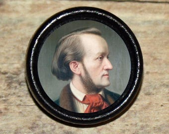 Composer RICHARD WAGNER Pendant or Brooch or Ring or Earrings or Tie Tack or Cuff Links