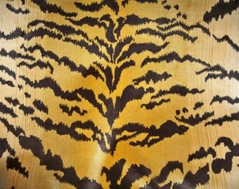 SCALAMANDRE LE TIGRE Tiger Silk Velvet Fabric 4 Yards
