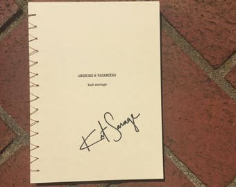 Hand Bound & Signed Book