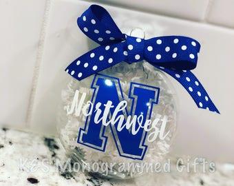 School Spirit Holiday Ornament - Grad Gift - Teacher Gift