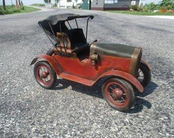 Model T Car Ford Tin Lizzie Hot Rat Street Rod Wood Metal Toy