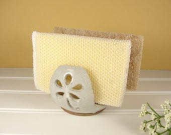 Kitchen Sponge Holder, Double Sponge Holder, Pottery Gift