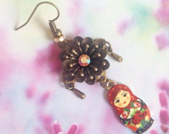 Each Russian doll earrings