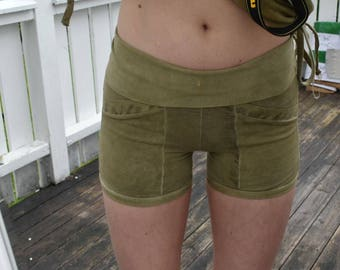 OOAK Pocket Shorts - XS - Plant Dyed Organic Cotton