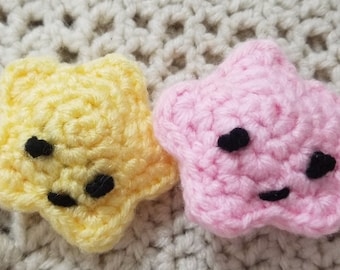 Handmade Crochet  Star Catnip Cat Toy with Organic Catnip 3 Toys