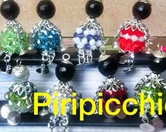 Bamboline perline con catena