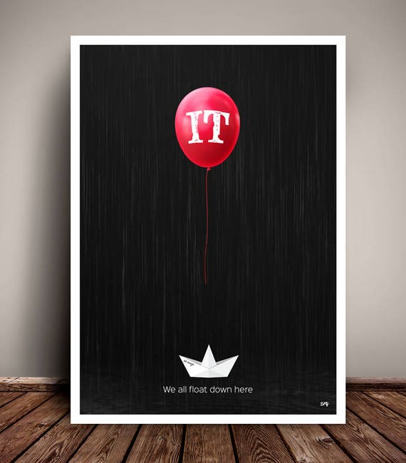 IT // Stephen King // Pennywise // Minimalist Movie Poster // Unique Art Print