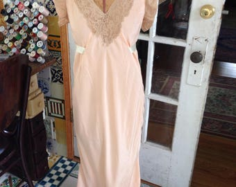 30's silk and lace negligee