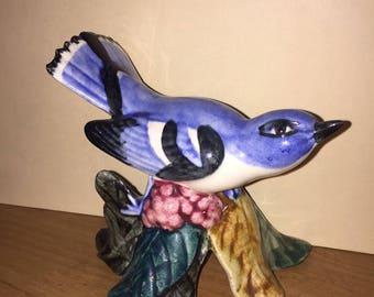 Blue Cerulean Warbler 3456 Stangl Pottery Birds Marked