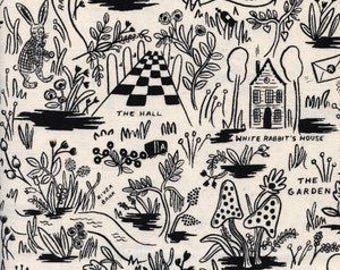 Wonderland - Magic Forest in Neutral - Rifle Paper Co - Cotton and Steel Fabrics - Fabric by the Half Yard