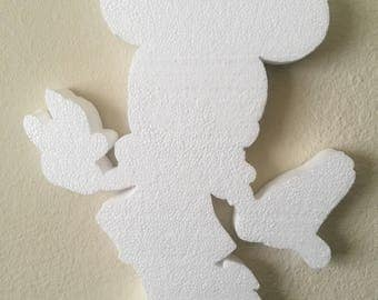 Large Minnie Mouse Silhouette // Minnie Party