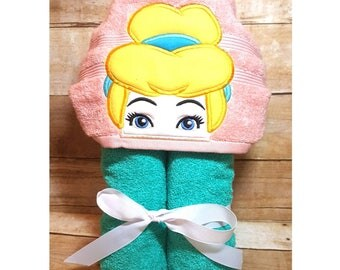 Princess Cinderella Hooded Towel with FREE Embroidered Name