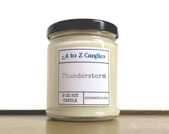 Thunderstorm Candle, Storm Watch Candle, Storm Candle, Soy Candle, Storm Watch, Ocean Candle, Summer Candle, Glass Jar Candles