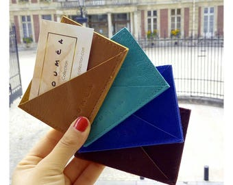 TURQUOISE - Door - cards double-sided leather