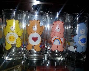 vintage care bears glasses set