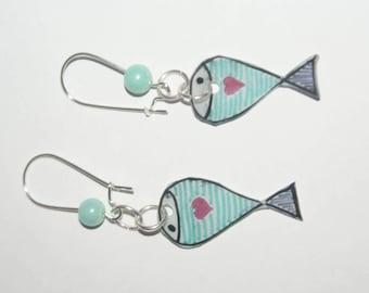 Earrings like a fish in water