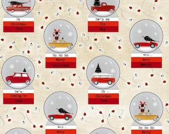Around Town Christmas by Studio E - Snowglobe - Cotton Woven Fabric