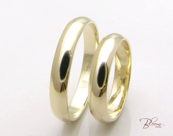 Plain Wedding Band Gold Couple Rings Set Gold Couples Ring