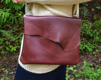 Leather Purse / Leather Handbag / Rustic Purse / Women's Leather Bag / Hand Made Purse