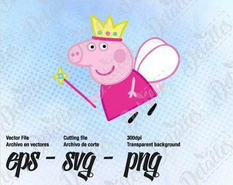 Peppa Pig Svg Clipart Vector / Vector SVG Eps for Personal Use / Silhouette Files, Cameo, Cricut Files, Tshirt