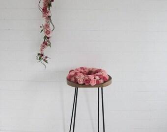Rose, Vines and Foliage Garland - Vintage Pink