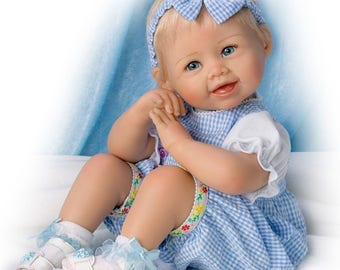 Ashton Drake - MADISON LET'S PLAY Lifelike poseable baby girl doll by Bonnie Chyle