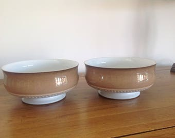 Pair of Denby Stoneware Bowls - Seville Design 1970s -