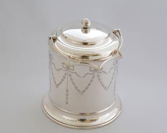 Biscuit Barrel by William Devenport  Birm. 1910