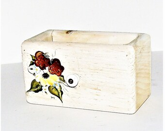 Wood Box Remote Control Caddies, Letters, Receipts, Mail, Trinket, Flowers Crafts Bathroom Display