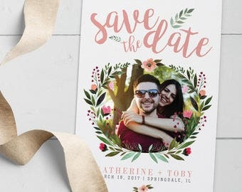 Rustic Vintage Floral Wedding Save the Date