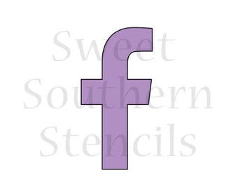 Social Media Icon Cookie Stencil