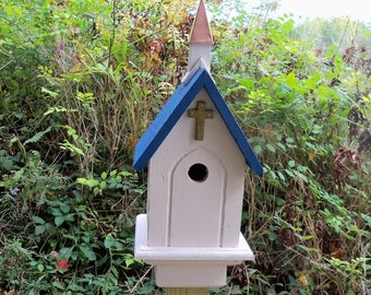 Gold Cross Bluebird House