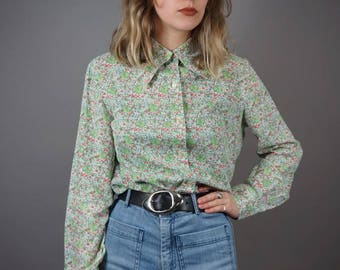 French Flower 70s Blouse