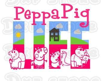 Daddy Pig ,peppa pig , daddy pig,  mummy pig ,george pig  SVG,EPS,PNG,Studio  for use with your Silhouette Studio Software