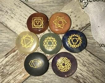 42, Chakra, Chakras, 7 Chakra Stone Set, Miniature, Chakra Stones, Travel Chakra Stones, Reiki Stones,