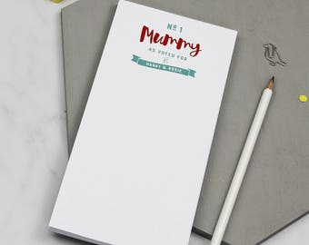 Number One Mummy' Notepad   To Do List   To Do List Notepad   Mum To Do Pad   To Do   To Dos   Things To Do   Personalised 'Stuff To Do'