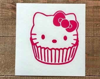 Hello Kitty Cupcake Decal