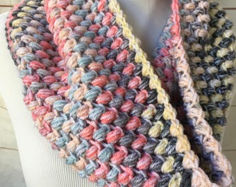 gifts for her - Crochet cowl scarf - chunky cowl - crocheted scarf - winter scarf - thick scarf  - christmas gift for her