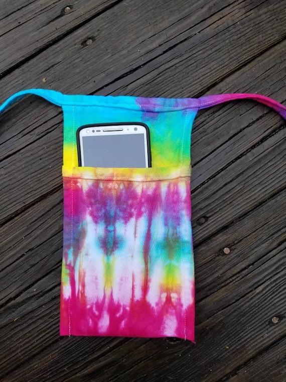 Tie Dye Waist Apron, Tie Dye Vendor Apron, Tie Dye Teacher Apron, Tie Dye Money Apron, Server Apron, Phone Apron, Half Apron, Waitress Apron
