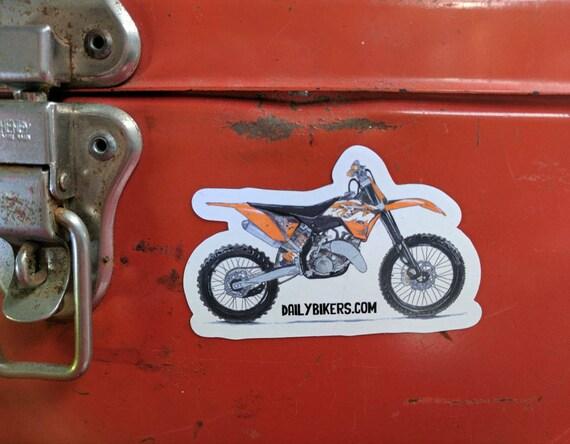 Motorcycle Fridge Magnet | High Quality Vinyl Motorcycle Magnet | KTM Enduro dirt bike illustration