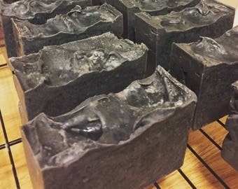 Activated Charcoal and Peppermint Soap 4oz+