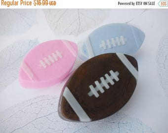On Sale Football Soaps - Football Baby Shower - Football Party Favors - Baby Shower Favors - Super Bowl Favors - Super Bowl Soap - Touch Foo