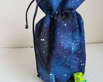 Standing Galaxy Dice Bag
