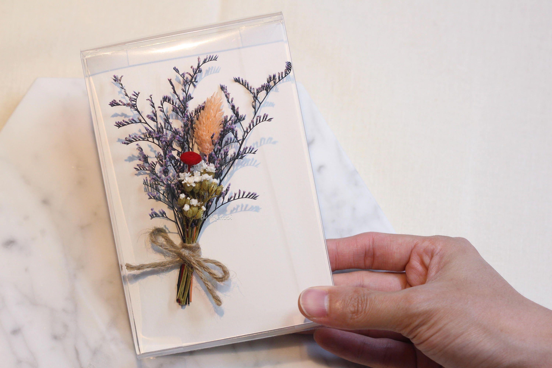 Handmade preserved flower greeting card jmini bouquet cardgreeting handmade preserved flower greeting card jmini bouquet cardgreeting cardfor mom kristyandbryce Gallery