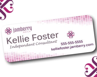"""Jamberry Sticker Address Labels, Printed Stickers, 1"""" x 2.625"""", 30 per page"""