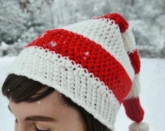Candy Cane Striped Elf Hat