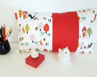 entire pillow name or pillow 30 x 50 cm personalized with name pattern Red Riding Hood