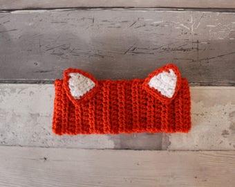 FOX EARS HEADBAND ear warmer fox ear warmers fox headband toddler birthday gift Christmas gift stocking filler fox ears